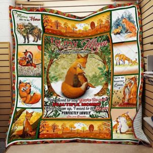 Personalized Fox To My Mum From Daughter I Want To Be Like You Quilt Blanket Great Customized Gifts For Birthday Christmas Thanksgiving Mother's Day