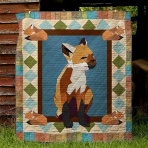 Fox Mom To My Mom From Son From Daughter Quilt Blanket Great Customized Blanket Gifts For Birthday Christmas Thanksgiving Mother's Day