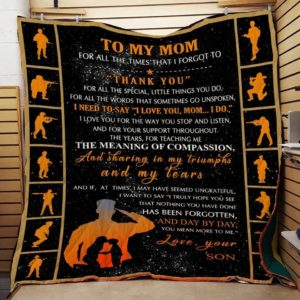 Personalized To My Mom From Son Thank You For All Special Little Things You Do Quilt Blanket Great Customized Blanket Gifts For Birthday Christmas Thanksgiving Mother's Day