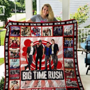 Big Time Rush Quilt Blanket Gifts For Fans Birthday Christmas Thanksgiving