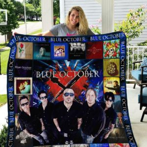 Blue October Band Quilt Blanket Gifts For Birthday Christmas