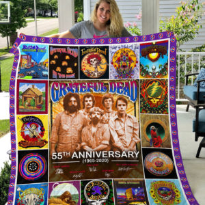 The Grateful Dead Quilt Blanket Gifts For Fans Birthday Christmas Music Gifts