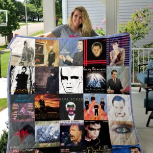 Gary Numan Quilt Blanket Ver 2