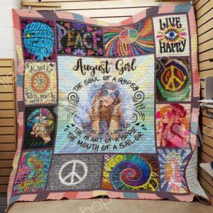 August Hippie Girl Quilt Blanket