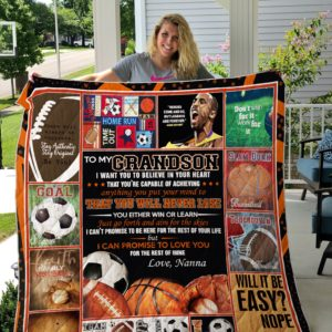 Personalized Sport To My Grandson Quilt Blanket From Grandma I Can Promise To Love You For The Rest Of Mine Great Customized Blanket Gifts For Birthday Christmas Thanksgiving