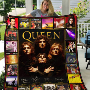 Queen Rock Band Quilt Blanket Gifts For Fans Birthday Christmas Music Gifts V2
