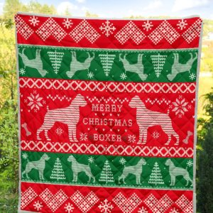 Boxer Quilt Blanket Great Gifts For Birthday Christmas Thanksgiving Anniversary