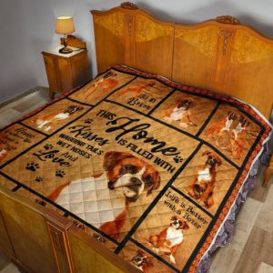 Boxer Home Quilt Blanket Great Gifts For Birthday Christmas Thanksgiving Anniversary