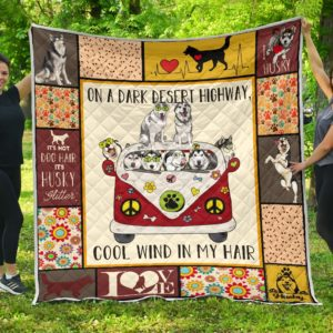 Viszla Dogs Hippie Van Cool Wind In Hair Quilt Blanket Great Customized Blanket Gifts For Birthday Christmas Thanksgiving