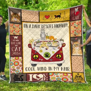 Cats Hippie Van Cool Wind In Hair Quilt Blanket Great Customized Blanket Gifts For Birthday Christmas Thanksgiving
