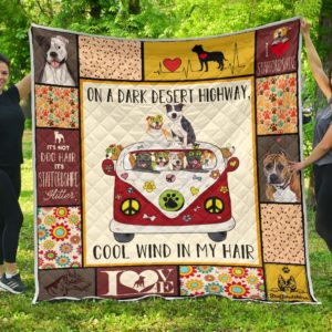 Staffordshire Hippie Van And Hippie Girl Cool Wind In Hair Quilt Blanket Great Customized Blanket Gifts For Birthday Christmas Thanksgiving