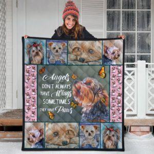 Yorkie Quilt Blanket Great Gifts For Birthday Christmas Thanksgiving Anniversary
