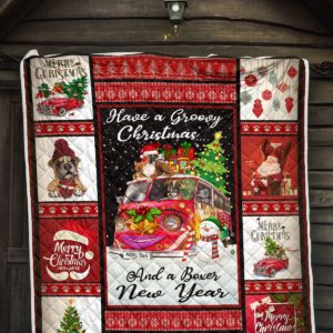 Have A Christmas And Boxer New Year Quilt Blanket Great Customized Blanket Gifts For Birthday Christmas Thanksgiving