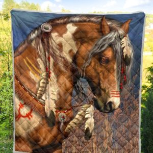 Horse Vintage Paiting Quilt Blanket Great Customized Blanket Gifts For Birthday Christmas Thanksgiving Anniversary