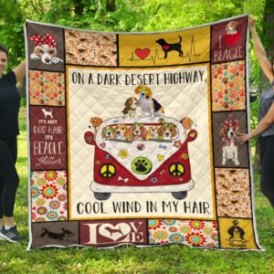Beagle Dogs In The Hippie Van Quilt Blanket Great Customized Blanket Gifts For Birthday Christmas Thanksgiving