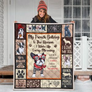 French Bulldog Quilt Blanket Great Gifts For Birthday Christmas Thanksgiving Anniversary