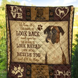 Dogs Boxer Beside You Quilt Blanket Great Gifts For Birthday Christmas Thanksgiving Anniversary