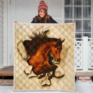 Horse Crack Quilt Blanket Great Customized Blanket Gifts For Birthday Christmas Thanksgiving Anniversary