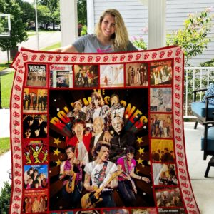 The Rolling Stones Band Quilt Blanket Gifts For Fans Birthday Christmas
