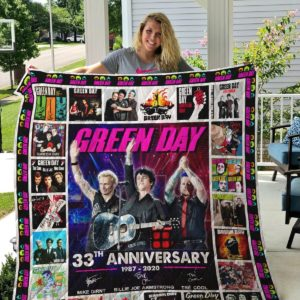 Green Day Rock Band Quilt Blanket Gifts For Fans Birthday Christmas Music Gifts