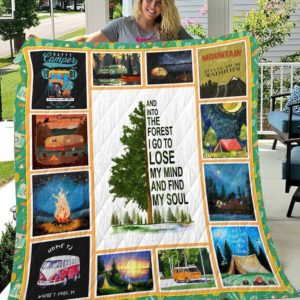 Camping Into The Forest Big Old Tree Quilt Blanket Great Customized Blanket Gifts For Birthday Christmas Thanksgiving