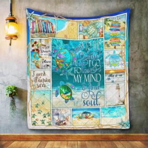 Sea Turtles Lose My Mind And Find My Soul Quilt Blanket Great Customized Blanket Gifts For Birthday Christmas Thanksgiving Anniversary