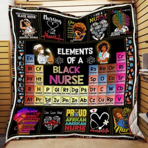 Black Nurse Elements Of A Black Nurse Quilt Blanket Great Customized Blanket Gifts For Birthday Christmas Thanksgiving