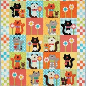 Cats And Flower Drawing Quilt Blanket Great Customized Blanket Gifts For Birthday Christmas Thanksgiving Anniversary