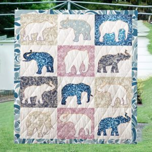 Shapes Of Elephant Quilt Blanket Great Customized Blanket Gifts For Birthday Christmas Thanksgiving Anniversary