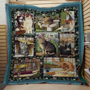 Cat Drawing Cute Fat Cat Lazy Cat Quilt Blanket Great Customized Blanket Gifts For Birthday Christmas Thanksgiving