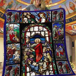 God Jesus Apostles And His Disciples Quilt Blanket Great Customized Blanket Gifts For Birthday Christmas Thanksgiving
