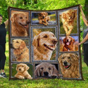 Golden Retriever Dog Quilt Blanket Great Customized Blanket Gifts For Birthday Christmas Thanksgiving Anniversary