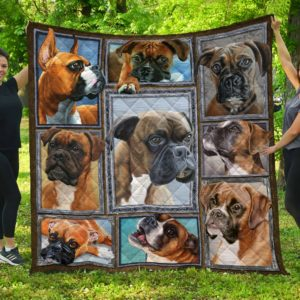 Boxer Beautiful Dogs Quilt Blanket Great Customized Gifts For Birthday Christmas Thanksgiving Anniversary