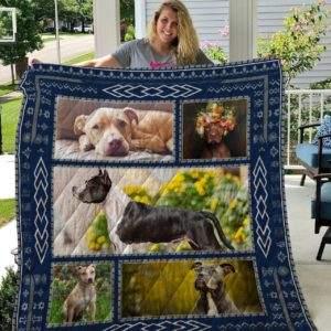 Pitbull Funny Dogs Quilt Blanket Great Customized Blanket Gifts For Birthday Christmas Thanksgiving Anniversary