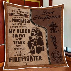 Firefighter Forever The Title Firefighter Quilt Blanket Great Customized Blanket Gifts For Birthday Christmas Thanksgiving