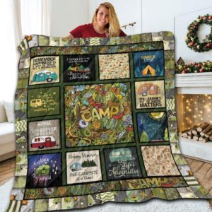 Camping Life Is An Adventure Quilt Blanket Great Customized Blanket Gifts For Birthday Christmas Thanksgiving Anniversary