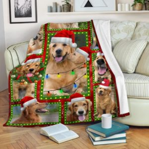 Golden Retriever Christmas Quilt Blanket Great Gifts For Christmas