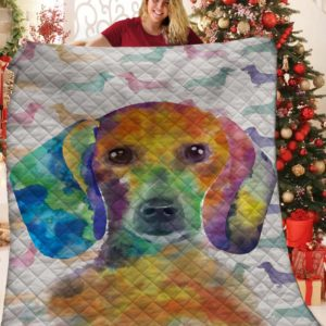 Dachshund Dog Drawing Colorful Quilt Blanket Great Customized Blanket Gifts For Birthday Christmas Thanksgiving Anniversary