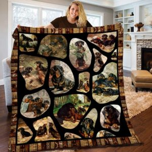 Dachshund Dog Friends Dogs Quilt Blanket Great Customized Blanket Gifts For Birthday Christmas Thanksgiving Anniversary