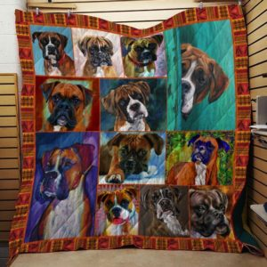 Boxer Cute Boxer Dogs Quilt Blanket Great Customized Blanket Gifts For Birthday Christmas Thanksgiving Anniversary