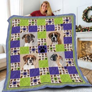 Boxer Paws Beautiful Dogs Quilt Blanket Great Customized Blanket Gifts For Birthday Christmas Thanksgiving Anniversary