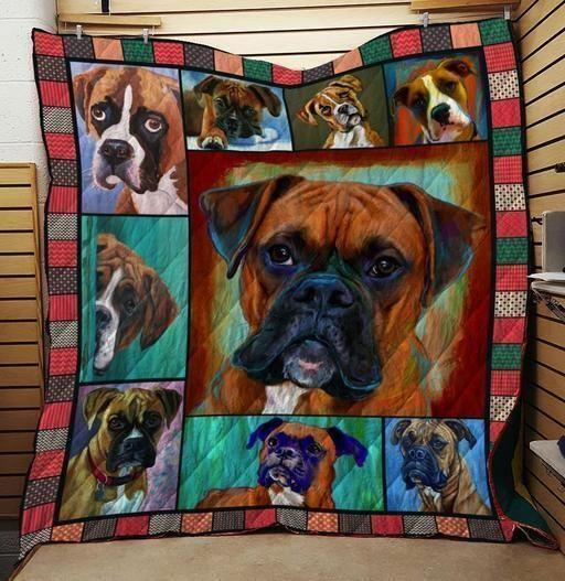 Boxer Dog Colorful Boxer Quilt Blanket Great Customized Blanket Gifts For Birthday Christmas Thanksgiving Anniversary