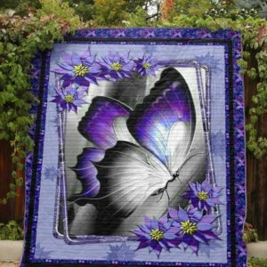 Butterfly Begin Again Purple Big One Quilt Blanket Great Customized Blanket Gifts For Birthday Christmas Thanksgiving