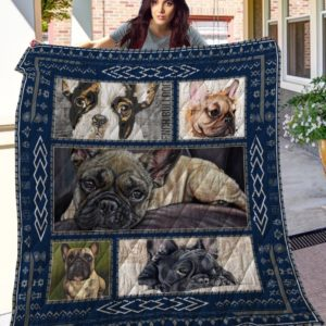 French Bulldog Quilt Blanket Great Customized Blanket Gifts For Birthday Christmas Thanksgiving