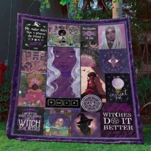 Witches Do It Enchant Me Black Girl Quilt Blanket Great Customized Blanket Gifts For Birthday Christmas Thanksgiving