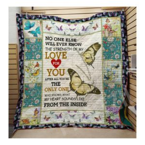 Butterfly Love For You Quilt Blanket Great Customized Blanket Gifts For Birthday Christmas Thanksgiving