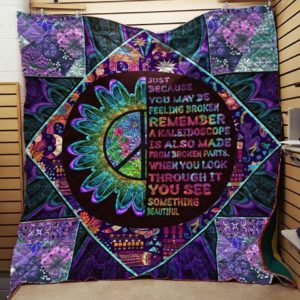 You See Something Beautiful Hippie Flowers Quilt Blanket Great Customized Blanket Gifts For Birthday Christmas Thanksgiving