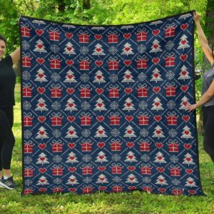 Fair Isle Gift Christmas Christmas Tree Quilt Blanket Great Customized Blanket Gifts For Birthday Christmas Thanksgiving