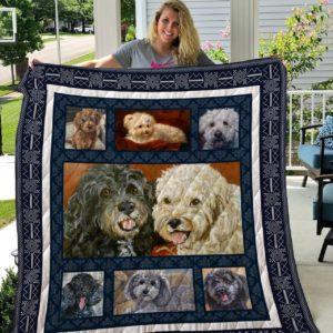 Poodle Dog Best Friend Quilt Blanket