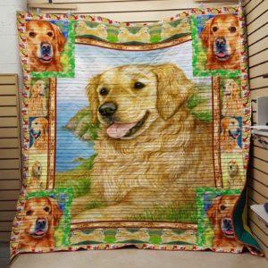 Golden Retriever Quilt Blanket Great Customized Blanket Gifts For Birthday Christmas Thanksgiving